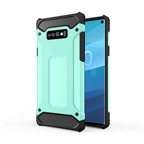 Forhouse Hülle Durable Protective Case Hülle, Thin Anti-Scratch Skin Back Hülle Full Cover für Samsung Galaxy S10 Lite - Green