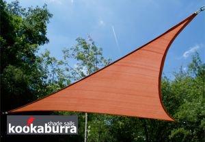 Voile d'Ombrage Terracotta Triangle 3,6m - Ajourée - 320g/m2 - Kookaburra
