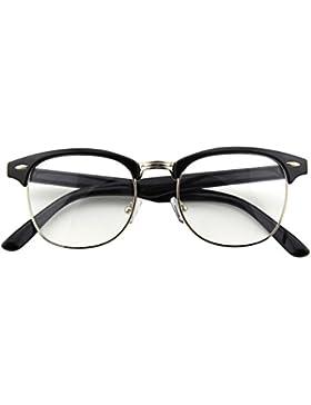 CGID CN56 Retro Clubmaster Wayfarer Anteojos Lente Claro Gafas Para Mujer y Hombre