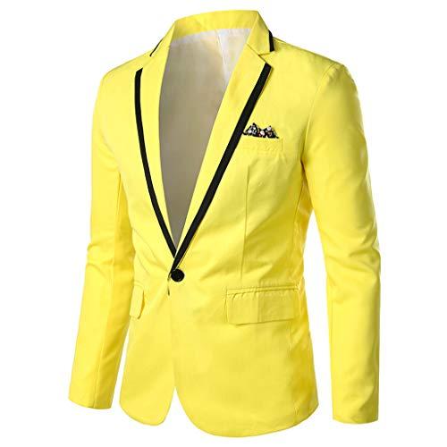 Herren Anzugjacke Blazer,New Herren Stilvoll Beiläufig Solide Blazer Business Hochzeit Outwear Mantel Anzug Tops Cardigan Jacket Mantel Kostüm Business Smoking Party Herrenanzug Sakko