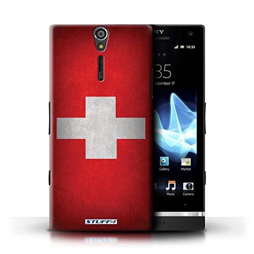 Kobalt® Imprimé Etui / Coque pour Sony Xperia S/LT26i / Jamaïque/jamaïcain conception / Série Drapeau Suisse