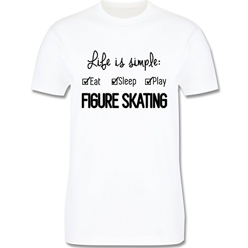 Wintersport - Life is simple Figure Skating - Herren Premium T-Shirt Weiß