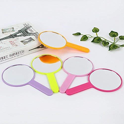 Andre Home Interessantes Spielzeug Mini Runde Form Handspiegel Kleine Glasspiegel für Handwerk...