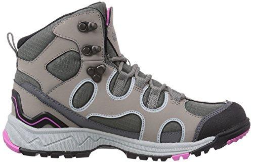 Jack Wolfskin Crosswind Texapore O2 Mid, Chaussures de randonnée femme Gris (Pink Hortensia 2079)