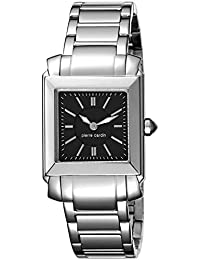 Pierre Cardin Le Lustre - Reloj analógico de cuarzo para mujer, correa de de acero inoxidable, color plata/negro, Swiss Made