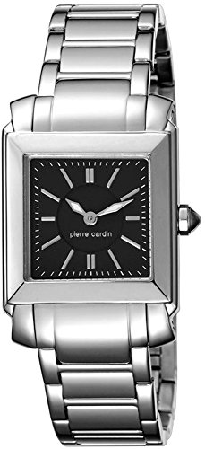 Pierre Cardin Le Lustre Women's Quartz Watch with Black Dial Analogue Display and Silver Stainless Steel Bracelet PC104222S03