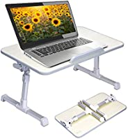 Adjustable Laptop Table, Portable Standing Bed Desk Foldable Sofa Breakfast Tray Notebook Stand Reading Holder