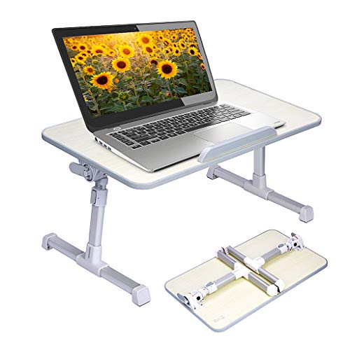 Avantree Neetto Tragbarer Betttablett, Höhenverstellbar Laptop Betttisch Tablett Bett Fruehstueck Notebook Tisch Stehpult, Klappbar Laptoptisch Fuer Sofa[2 Jahre Garantie]