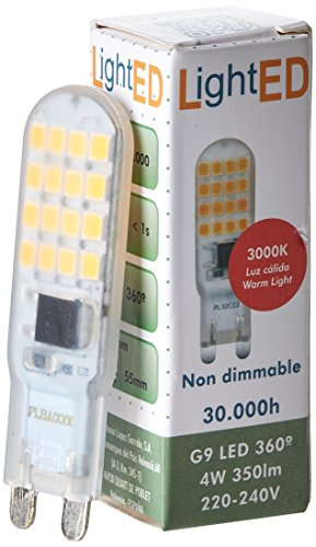 Lighted Ampoule LED, 3000 K G9, 4 W, 16 x 55 mm