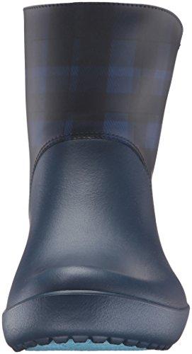 crocs Damen Rainfloegrphcbt Gummistiefel Blau (Navy)