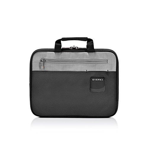 Everki ContemPRO Laptop Sleeve - Schutzhülle für Notebooks bis 11,6 Zoll (29,5 cm) mit Memory Foam Polsterung, Tragegriffe und Fächer für Dokumente und Zubehör, Schwarz -
