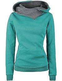 Tongshi Jersey sudadera con capucha de mujer manga larga con capucha de algodón Jersey de abrigo