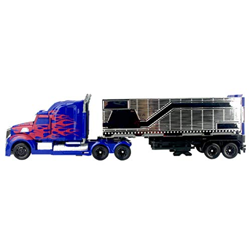 LKW-Spielzeug, Helden Rettungs Bots ots Roboter-Action-Truck , Container-LKW-Modell (mit Mini-Roboter (Color : 1)
