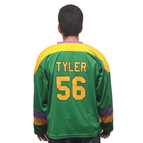 (MyPartyShirt Russ Tyler 56Mighty Ducks Film Hockey Jersey, Puck Kostüm D2Kenan Erwachsene Gr. XL, Grün)
