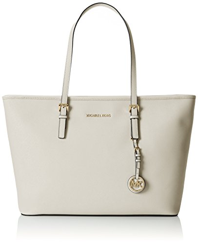 SHOPPING JET SET TRAVEL LARGE IN PELLE SAFFIANO Gris