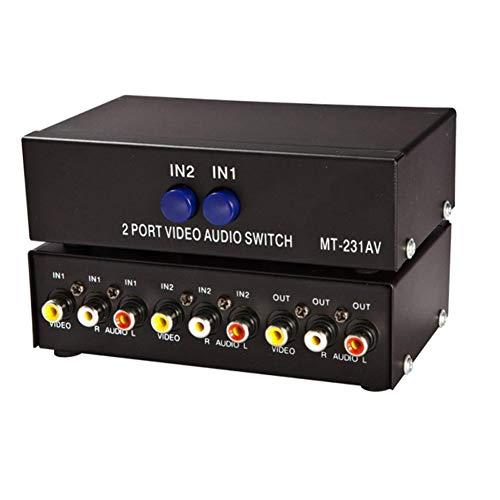 BolAAzuL® Composite AV RCA Switch Switch Switch Switch Box für HDTV LCD Projektor STB DVD Avs-switch-boxen
