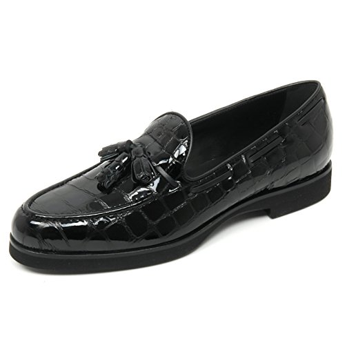 B9038 mocassino donna TOD'S scarpa nappine nero loafer shoe woman Nero