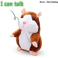 KOBWA Hámster Hablando Juguete,Repite lo Que Dices Hamster Peluche Hamster Interactivo Peluche Habla Juguete para Regalo de Niños