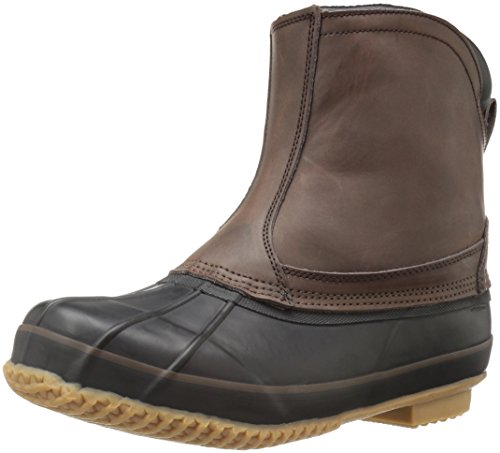 Northside Fairbanks Men's Waterproof Slip-on Duck Boot, Dark Brown, 8 M US