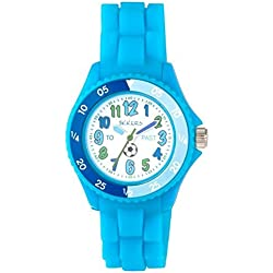 Tikkers Kids Time Teacher Blue Rubber/Silicone Strap Watch NTK0006 Football design