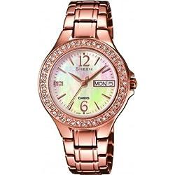 Casio Sheen–Reloj de pulsera analógico para mujer cuarzo acero inoxidable She de 4800pg de 9auer