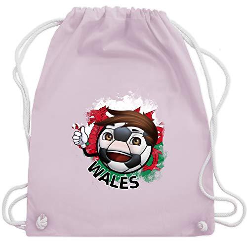 Fußball - Fußballjunge Wales - Unisize - Pastell Rosa - WM110 - Turnbeutel & Gym Bag