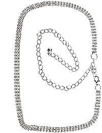XL Blatt Anhänger Strass Halskette Roségold Blattform Kette