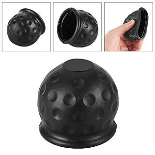 ONEVER Kugelabdeckung für Anhängerkupplung Kappenanhänger Hitch Receiver 50mm Trailer Kautschukkappe aus schwarzem Gummi (2pcs)