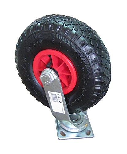 Preisvergleich Produktbild HKB ® Lenkrolle für PU- oder Gummirad ø=260mm (Gummirad/Kunststofffelge/Rollenlager)