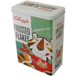 Kellogg's Boîte à céréales vintage Motif tigre avec inscription Frosted Flakes Vert