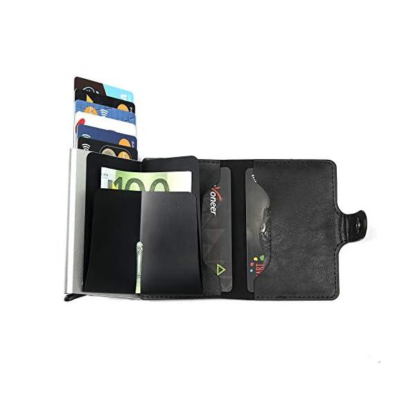 Porta Carte di Credito da Uomo | Portafoglio per Carte di Credito e Banconote con Protezione RFID | Design da Business… 2 spesavip
