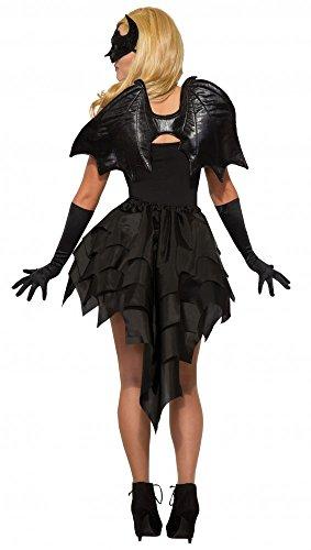 shoperama Schwarze Fledermaus Flügel für Erwachsene Halloween Vampir Kostüm Zubehör - Fledermaus Flügel Kostüm Zubehör