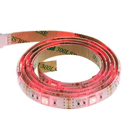 Smartfox LED Strip Leuchtstreifen Lichtband Leuchte Deko 100cm batteriebetrieben selbstklebend in rot