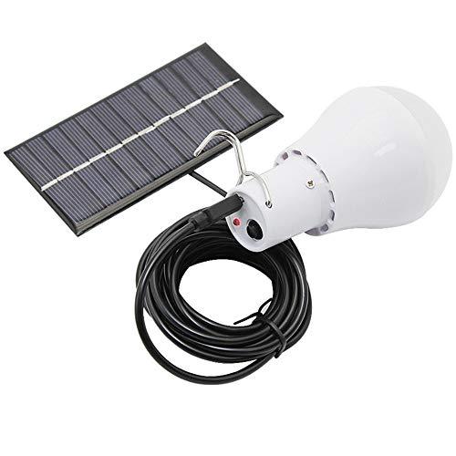 NANDAN Solar-LED-Lampe, Solar-Ladung, tragbar, Plug-in für das Haus Magazzino Decke, Alpinismus Lichter von Emergenza für Camping, Nachtarbeit