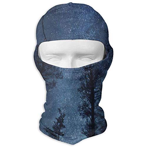 Xdevrbk Sturmhaube Wald Baum Starry Night Vollmasken UV Schutz Ski Cap Womens Headcover für Wandern Unisex8 - Headcover Turban