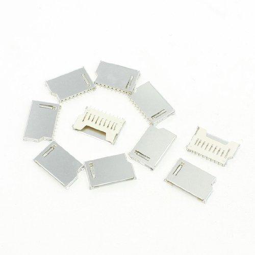 sourcing map 10 Stück 16 x 26 x 2,5 mm SD Card Speichekarte Modul Sockets Anschlüsse Ersatz