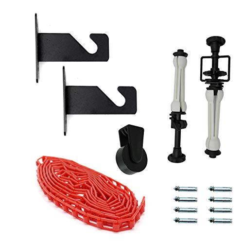 Caruba Kit reggifondale mit Expan Fixierer Seilzug, Kettenzug, PESETTO und Wandhaken für 1Hintergrund aus Papier oder Vinyl Expan Kit