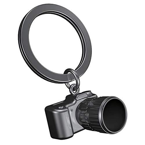 Llavero en forma de cámara fotográfica réflex 3D con encanto. Precioso llavero con cámara fotográfica retro, accesorio vintage.