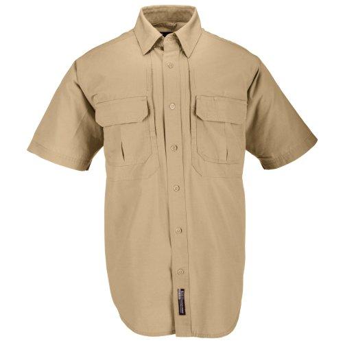 5.11 Baumwolle Tactical Short Sleeve Shirt Größe L Coyote Brown (Button-down-brown Bekleidung)