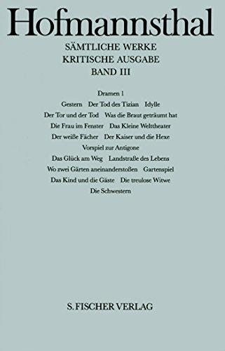 Sämtliche Werke.: Dramen 1: Gestern - Der Tod des Tizian gebraucht kaufen  Wird an jeden Ort in Deutschland