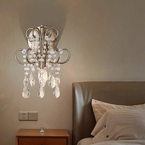 GCCI American Crystal Wandleuchte Mirror Lounge eine Nachttischlampe vor dem modernen Korridor House of Aisle Creative Lamps a +,Antiquität