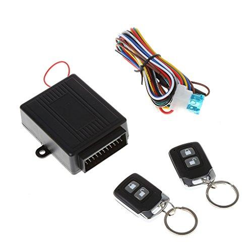 1 Set Universal Auto Alarm Keyless Entry System Kit Auto Remote Zentralschloss Kit Tür Kofferraum Fenster Schloss Fernbedienung Button Connect Kabel 12V FlowerPEI (Auto-remote-starter-kit)
