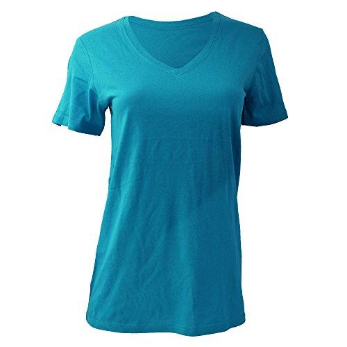 Anvil Damen T-Shirt mit V-Ausschnitt Rot