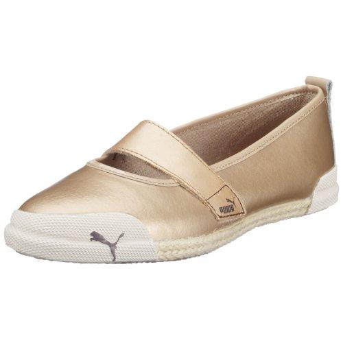 Puma Tia Espi Damen Leder Slip On Schuhe / Mary Janes - Beige-39 (Puma Damen Schuhe Slip On)