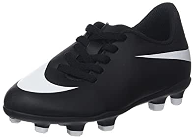 TG. 36 EU Nike Jr Bravata II FG Scarpe da Calcio Unisexbambini Nero Black/
