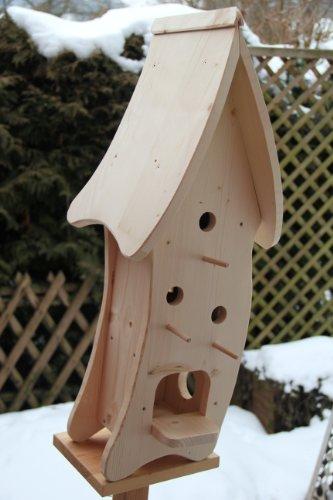 Dekorativer XXXL Nistkasten(N4) mit Vogelfutterhaus-Vogelhaus–Vogelhäuschen-sauberste Verarbeitung-Vogelhaus Garten Deko - 2