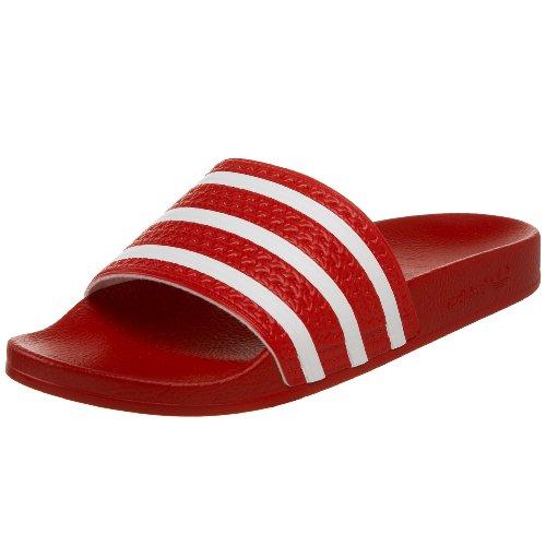 adidas Adilette, Baskets Basses Homme Scarlet/White/Scarlet