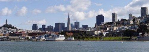 Tower Telegraph Hill (Panoramic Images - City at the waterfront Coit Tower Telegraph Hill San Francisco California USA Photo Print (91,44 x 33,02 cm))