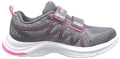 Skechers Swift Kicks-Lil Glammer 81497N/CCNP Mädchen Klettverschluss/Slipper Halbschuh sportlicher Boden Grau (Grau)