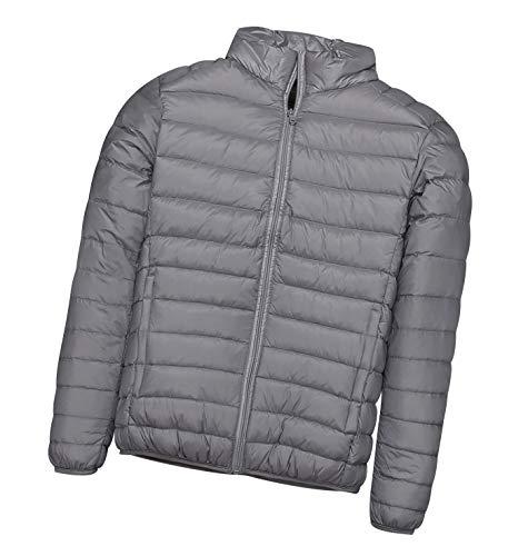 Piumino leggero uomo con cappuccio piumini lunghi giubbotti invernali giacca piumino ultraleggero giubbotto uomo trapuntato invernale cappotto giacche giacconi giacchetto sportivi primaverili grigio
